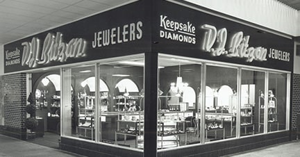Central Minnesota Jewelry Store D.J. Bitzan's Original Location in 1966